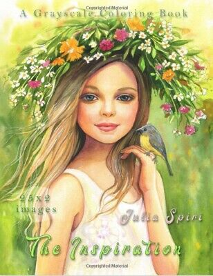 £10.99 • Buy Fairy Portraits Women Greyscale Beauty Adult Colouring Book Flower Kids Girls