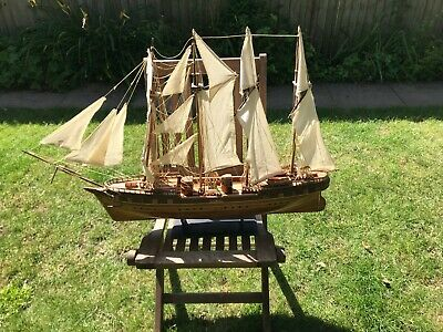£30 • Buy Large Wooden Sailing Ship 38 Inches Length Name ???