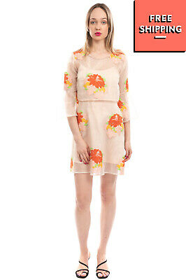 AU2.99 • Buy JOVONNA PREMIER Crepe A-Line Dress Size Size 10 / M Embroidered Flowers Layered