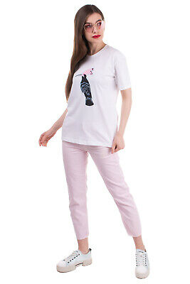 $ CDN1.71 • Buy MARKUS LUPFER T-Shirt Top Size S Coated Hoopoe Bird Crew Neck Made In Portugal
