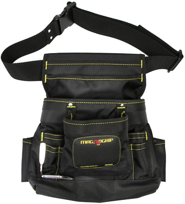 $31.75 • Buy MagnoGrip 002-412 10-Pocket Magnetic Tool Pouch With Belt, Black