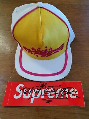 $ CDN57.91 • Buy Supreme Playboy 5-Panel White New With Tags Box Logo Cap Hat Trucker In-hand