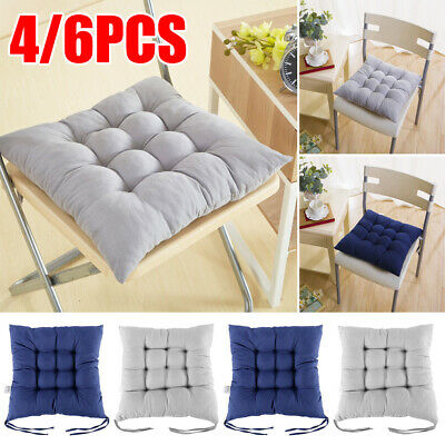 £15.99 • Buy 4/6x Chair Seat Garden Pads Furniture Dining Patio Outdoor Tie On Cushions Thick