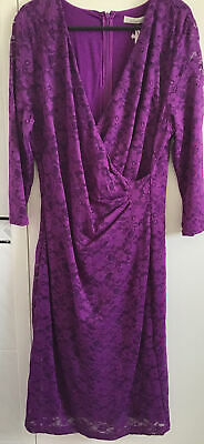 £9 • Buy Kaliko Size 12 Purple Lace Dress - New With Tags. Lined. Long Sleeves.