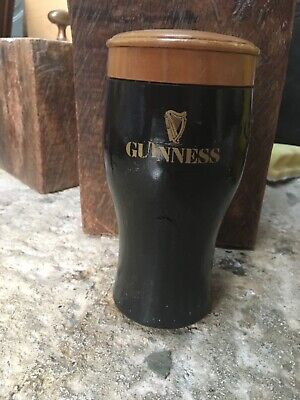 £4.99 • Buy Vintage Turned Wood Guiness Pint Glass, Advertising, Collectible, Pub, Man Cave
