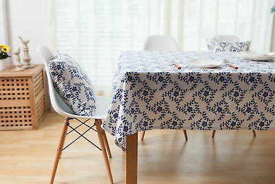 AU15.98 • Buy Cotton Linen Tablecloth Vintage Dining Table Cloth Cover Party Home Decoration