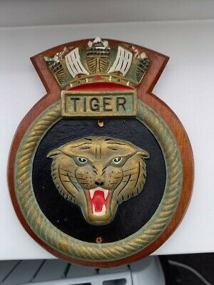 £4.99 • Buy Vintage Hms Tiger Ships Badge Wall Plaque & Three Others