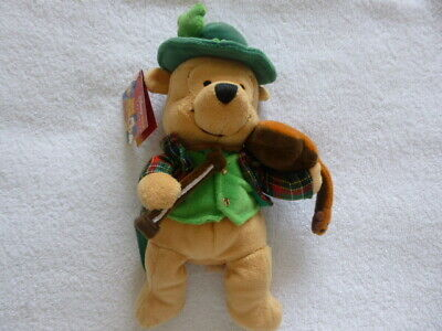 £3.49 • Buy St.Patrick's Day Winnie The Pooh 2005 Disney Store Exclusive Soft Toy Beanie