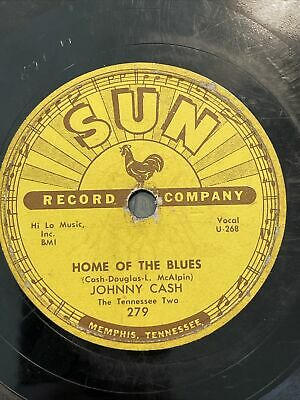 """£159.98 • Buy JOHNNY CASH AND THE TENNESSEE TWO HOME OF THE BLUES -SUN RECORDS 1957, 10"""" 78rpm"""