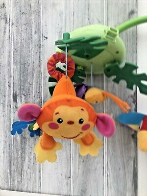 £2.50 • Buy Replacement Fisher Price Rainforest Peek-a-Boo Leaves Cot Mobile Monkey Spares