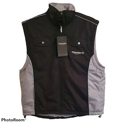 £54.99 • Buy Triumph Works Clothing Men's Team Gilet Size L Fleece Lined - Brand New Rare