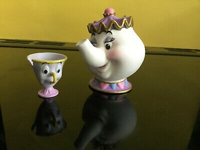 £10 • Buy DISNEY BEAUTY & THE BEAST -  MRS POTTS And CHIP FIGURES - MADE BY BULLY