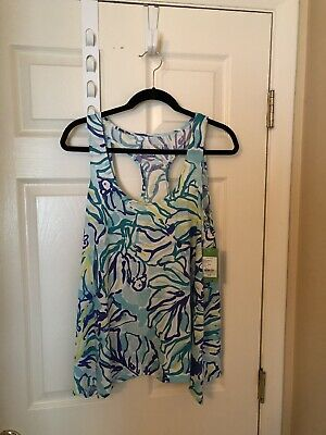 $39 • Buy Lilly Pulitzer Stay Cool Monterey Tank Top, Size Medium