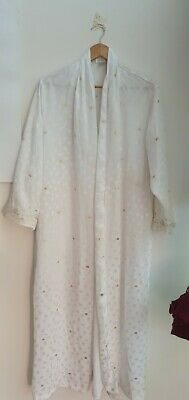 AU19 • Buy Morgan Taylor Women's Dressing Gown. New Size M Fantasies White And Gold