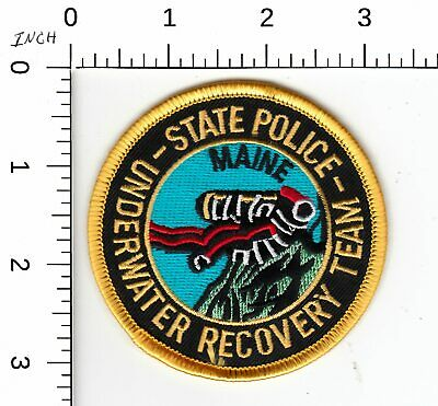 $5.99 • Buy Maine State Police Underwater Recovery Police Patch Me