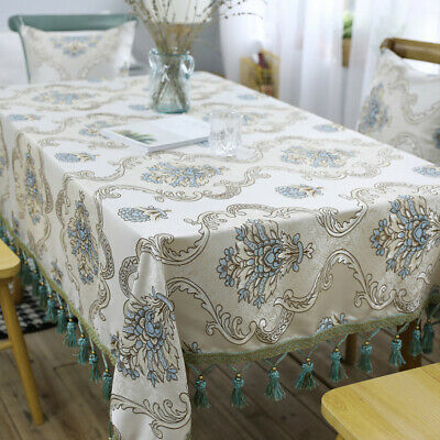 AU13.56 • Buy Retro Tassel Table Cloth Rectangle Floral Tablecloth Dinner Dining Kitchen Decor