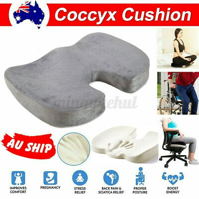 AU18.33 • Buy Coccyx Orthopedic Memory Foam Seat Cushion Back Pain Relief Chair Pillow Reliefs