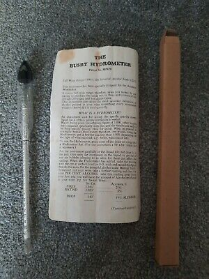 £2.99 • Buy Vintage Busby Hydrometer Boxed With Instructions: Patent No. 885670