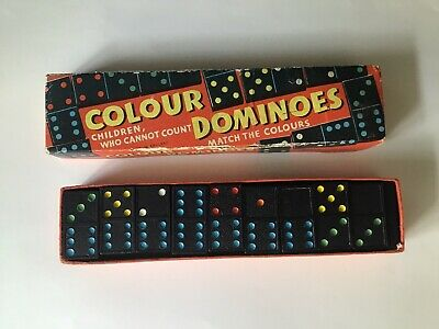 £2 • Buy Vintage Colour Dominos By Spears Games Complete In Original Box