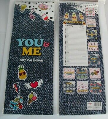 £0.99 • Buy 2020 YOU & ME MONTH TO VIEW WALL CALENDAR - SPIRAL BOUND-2 Columns Planner