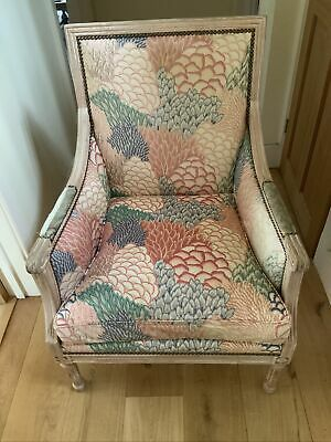 £25 • Buy French Louis XVI Style Shabby Chic Chair With Feathered Cushion & Wooden Frame