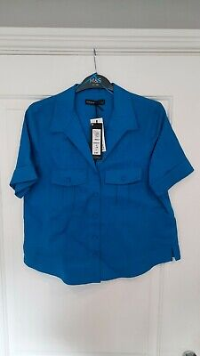 £3.99 • Buy Ladies Marks And Spencer Autograph Pure Linen Blouse Bnwt Size 8