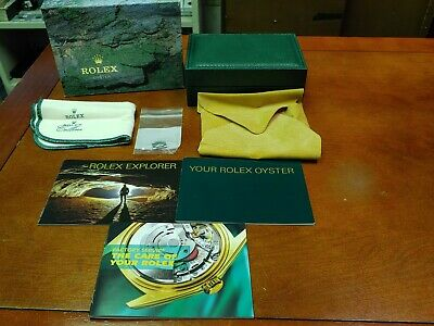 $ CDN94.35 • Buy Vintage Rolex Oyster Explorer Watch Case & Outer Box Manual Booklet & Link!