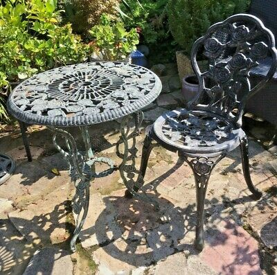 £30 • Buy Cast Aluminium Garden Bistro Table And One Chair