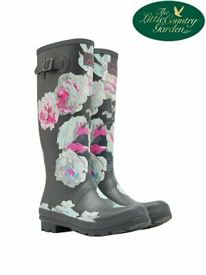 £36.89 • Buy Joules Womens Tall Printed Wellies Grey Bloom Floral Wellington Boots Print