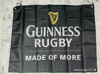 """£15 • Buy Guinness Rugby Made Of More Flag Banner 38"""" By 31"""" Pub Bar Man Cave  New X2"""