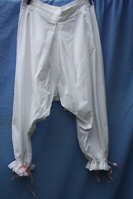£7.95 • Buy Steampunk Pantaloons White Cotton Lace Bloomers Fancy Dress Cosplay Am Civil War