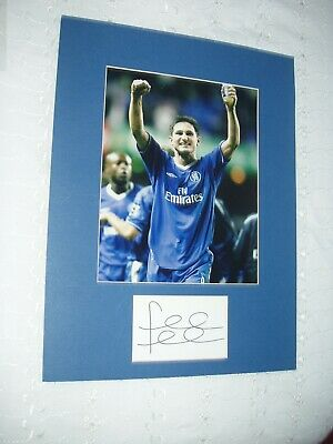 £25 • Buy Frank Lampard Hand Signed Card With Mounted Photo  With    C.o.a