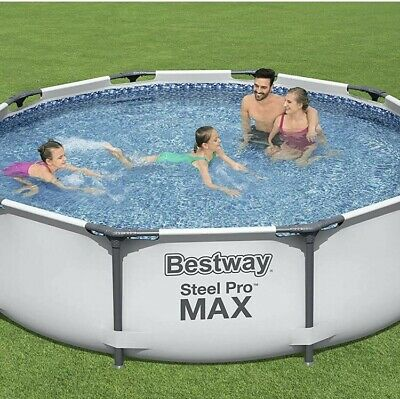£169.99 • Buy Bestway 10ft Steel Pro MAX Round Pool - NEW & SEALED - IN HAND ✅ 24HR DELIVERY🚚