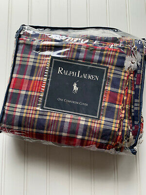 £100.18 • Buy Ralph Lauren Kennebunkport Plaid Duvet Cover Piping Portugal Twin