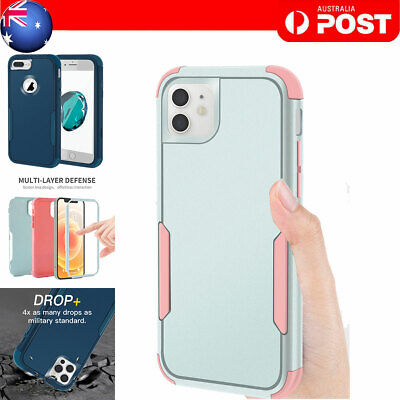 AU9.99 • Buy Shockproof Heavy Duty Cover Case For IPhone 11 12 Pro Max XR 6 7 8 Plus SE 2020