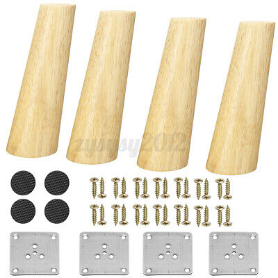 £13.89 • Buy 4x Solid Wooden Cone Angled Furniture Legs Kit Sofa Table Chair Stool Chest Part