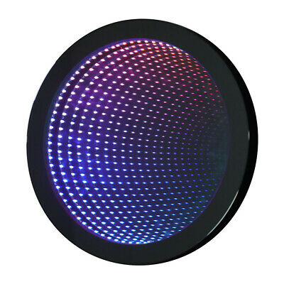 £125.95 • Buy Round/Rectangle Infinity Mirror Tunnel Light Wall Mounted Sensory Remote Lamp
