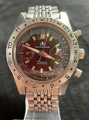 $ CDN770.63 • Buy Vintage Ollech & Wajs Gents Yachting Chronograph Watch Working Divers 3x Signed