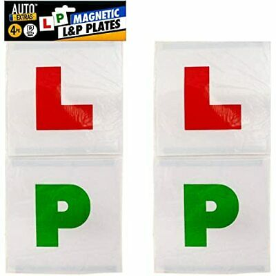 £1.74 • Buy 4 Piece L & P Plate Magnetic Exterior Car New Pair Learner Passed Plates Pass
