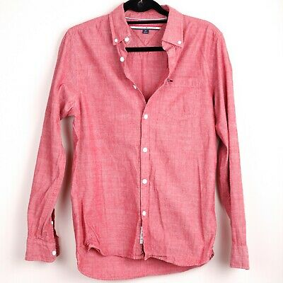 £14.95 • Buy TOMMY HILFIGER Mens Shirt   Red   Size Small   Long Sleeve   Casual   VGC