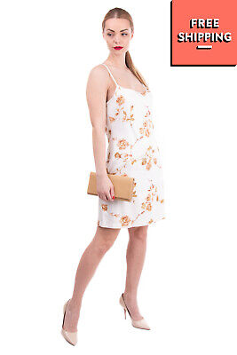 AU2.34 • Buy ERMANNO DAELLI Cami Dress Size 46 / L Unlined Floral Open Back Made In Italy