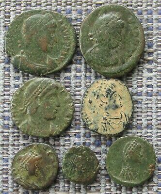 £0.99 • Buy A Small Group Of 4th Century Roman Bronze Coins