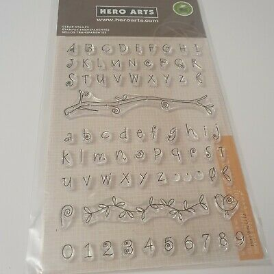 £6.99 • Buy Hero Arts  Poly Clear Stamps Set - Alphabet & Numbers CL141
