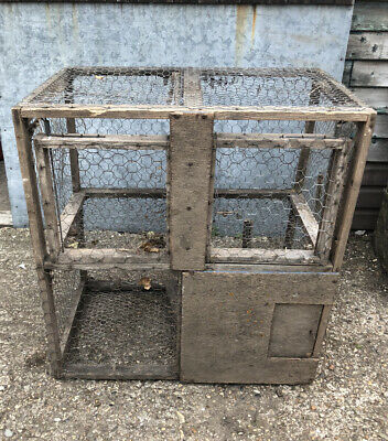 £5 • Buy Vintage Metal And Wooden Rook/Crow/Bird Cage/Catcher/Trap 82cm Height