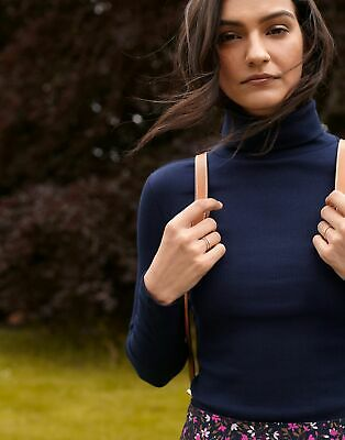£16.95 • Buy Joules Womens Clarissa Roll Neck Jersey Top - French Navy