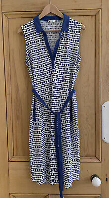 AU37.75 • Buy NEW Ladies Boden Gorgeous Blue & White Spotted Stretchy Midi Dress - Size 12L