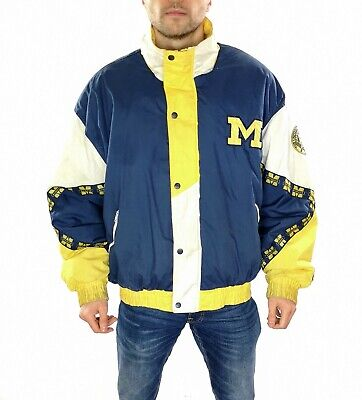 £54.99 • Buy Men's 90's Pro Player Michigan Wolverines College Football Jacket  Size XL