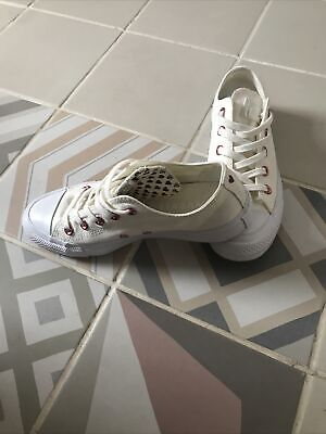 £20 • Buy Converse Cream With Hearts Rose Gold Eyelets Uk 4 36.5