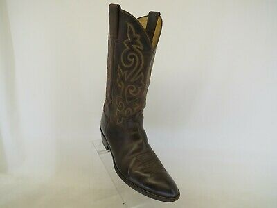 $50.34 • Buy Justin Brown Leather Cowboy Western Boots Mens Size 10 D