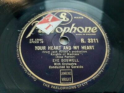 £10 • Buy 78rpm: Eve Boswell – Your Heart And My Heart / I Remember The Cornfields - Ex+